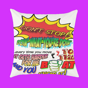 5 Seconds of Summer Don't Stop Lyric - Pillow Case, Rectangle Pillow One Side/Two Sides.