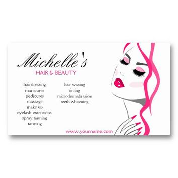 Hair & Beauty salon business card design from Zazzle.com