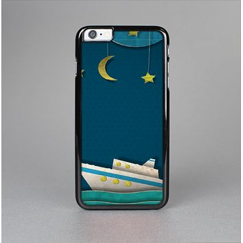 The Layered Paper Night Ship with Gold Stars Skin-Sert for the Apple iPhone 6 Skin-Sert Case