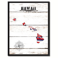 Hawaii State Flag Gifts Home Decor Wall Art Canvas Print Picture Frames