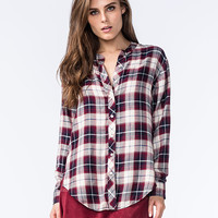 White Crow Mirror Mirror Womens Plaid Shirt Red  In Sizes