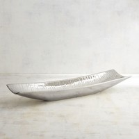 Long Silver Decorative Bowl