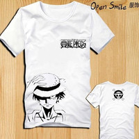 Unisex T-shirt for summer, t-shirt for lovers, One piece shirt, anime shirt, Luffy shirt = 1956764932
