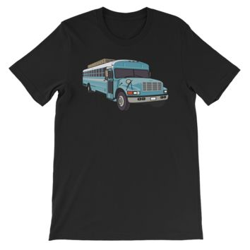 The SkoolieLove Bus - Big Blue - Colin Joseph Exclusive Tee