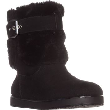 Guess Amburr Mid Calf Lined Boots, Black Multi, 10 US