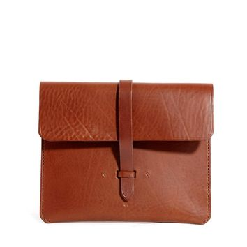 Chloe Stanyon Leather Clutch Bag in Tan