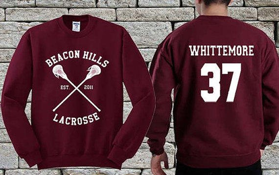 26a31bb186 BEACON HILLS Lacrosse Team White Maroon from ayaholeng on Etsy