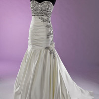 Ivory and Black wedding gown