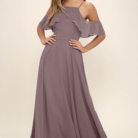 Chandelier Dusty Purple Maxi Dress