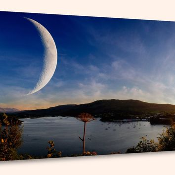 """Sunset on Another World, Panorama (10"""" x 24"""") - Canvas Wrap Print"""