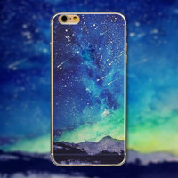 Meteor Shower Tourism Scenery iPhone 5 5S iPhone 6 6S Plus Case + Nice Gift Box -125
