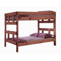 Chelsea Home Full Over Full Bunk Bed in Mahogany Stain