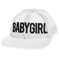 The BabyGirl Spacer Mesh Cap in White