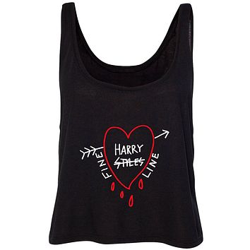 """Harry Styles """"Fine Line Dripping Heart"""" Cropped Tank Top"""