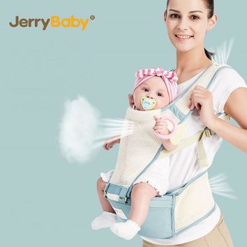 ICIKL3Z JerryBaby Baby Carrier Multifunctional Breathable Kangaroos BackPack Infant Sling Carrier Hip Seat Baby Carrier for All Seasons