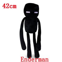 Big size 42cm Minecraft Enderman Plush Toys Doll Creeper JJ Plush Toys large Stuffed Animals Toys Soft Toy Gifts For Kids