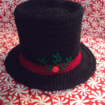 Crochet Snowman Hat Crocheted Snowman Ornament Here Comes The Sun