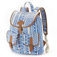 Candie's Aztec & Sequin Backpack (White/Blue)