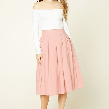Pleated A-Line Skirt