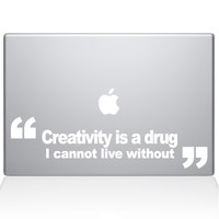Creativity Is A Drug Macbook Decal | The Decal Guru