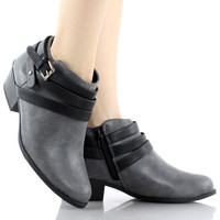Alum-S Low Chunky Heel Ankle Boots