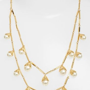 Tory Burch Faux Pearl Bud Multistrand Necklace | Nordstrom