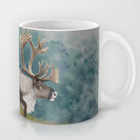 Caribou  Mug by North Star Artwork