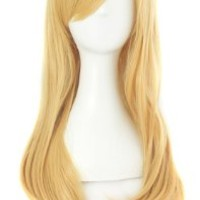 MapofBeauty Stylish Long Straight Cosplay Party Wig (Blonde)