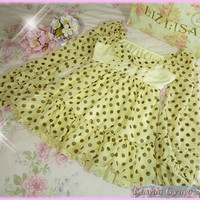 Liz Lisa Polka Dot Off The Shoulder Chiffon Top (NwoT) from Kawaii Gyaru Shop