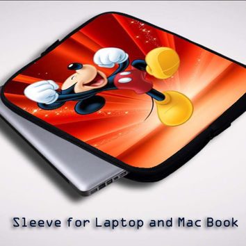 Disney Mickey Mouse Z0166 Sleeve for Laptop, Macbook Pro, Macbook Air (Twin Sides)