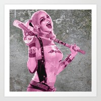 Suicide Harley on the wall Art Print by S.Levis