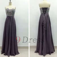 New Beaded Sweetheart Long Prom Dress Bridesmaid Dress Hot Party Dress Evening Dress Homecoming Dress Holiday Dress  Formal Dress
