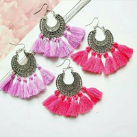 Bohemian Tassel Earrings for  Summer Festival accessories Gift