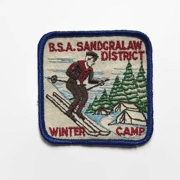 Vintage 60s BSA Winter Camp PATCH / 1960s Sandgralaw District Patch