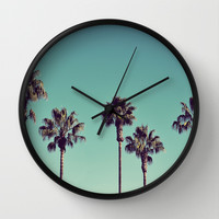California Palm Trees Wall Clock by Lawson Images