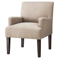 Dolce Upholstered Accent Arm Chair- Brown