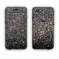 The Black Unfocused Sparkle Apple iPhone 6 Plus LifeProof Nuud Case Skin Set