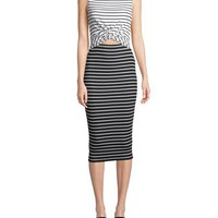 Bailey 44 Rabbit Hole Striped Midi Dress