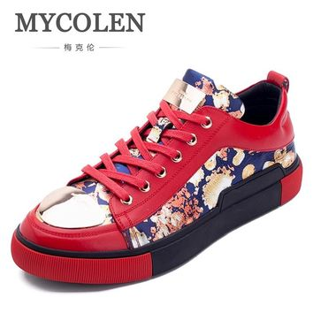 MYCOLEN 2018 Spring Thick Sole Breathable Men Shoes Casual Platform Sneakers Fashion Walking Male Shoes Scarpe Uomo Pelle