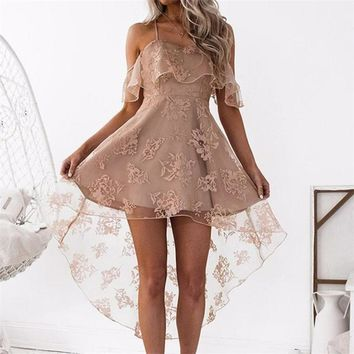 Verona ruffle lace dress