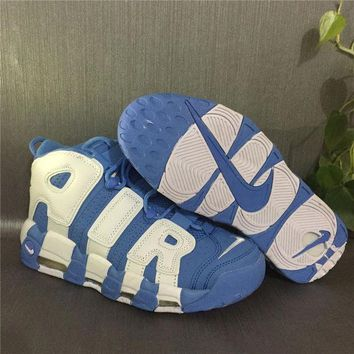 PEAPGE2 Beauty Ticks Nike Air More Uptempo 96 Scottie Pippen Blue/white Basketball Shoes Size Us5.5-13