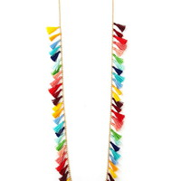 Tassel Charm Longline Necklace