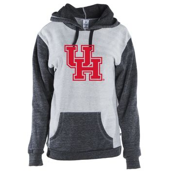 Official NCAA University of Houston Cougars Color Block Pocket Pullover Hoodie
