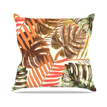 "Alison Coxon ""Jungle Rust"" Orange Brown Throw Pillow"