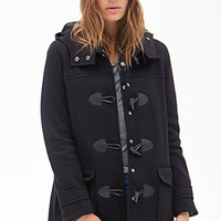FOREVER 21 Hooded Toggle Coat