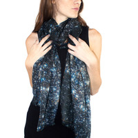 Starry Night Cashmere Wool Scarf