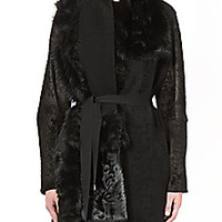 Ann Demeulemeester - Reversible Shearling & Leather Coat - Saks Fifth Avenue Mobile