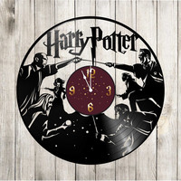 "Harry Potter Gift wall clock. Harry Potter decor  ""Harry Potter 2"". Harry Potter ornament. Harry Potter gifts. Harry Potter clock wall"