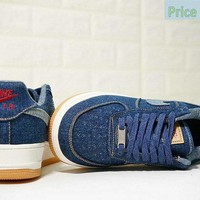 Latest and Cheapest Levis x Nike Air Force 1 Low Blue White AO2571-210 shoe