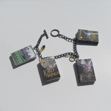 The Lord Of The Rings book charm bracelet The by AppleBeads85